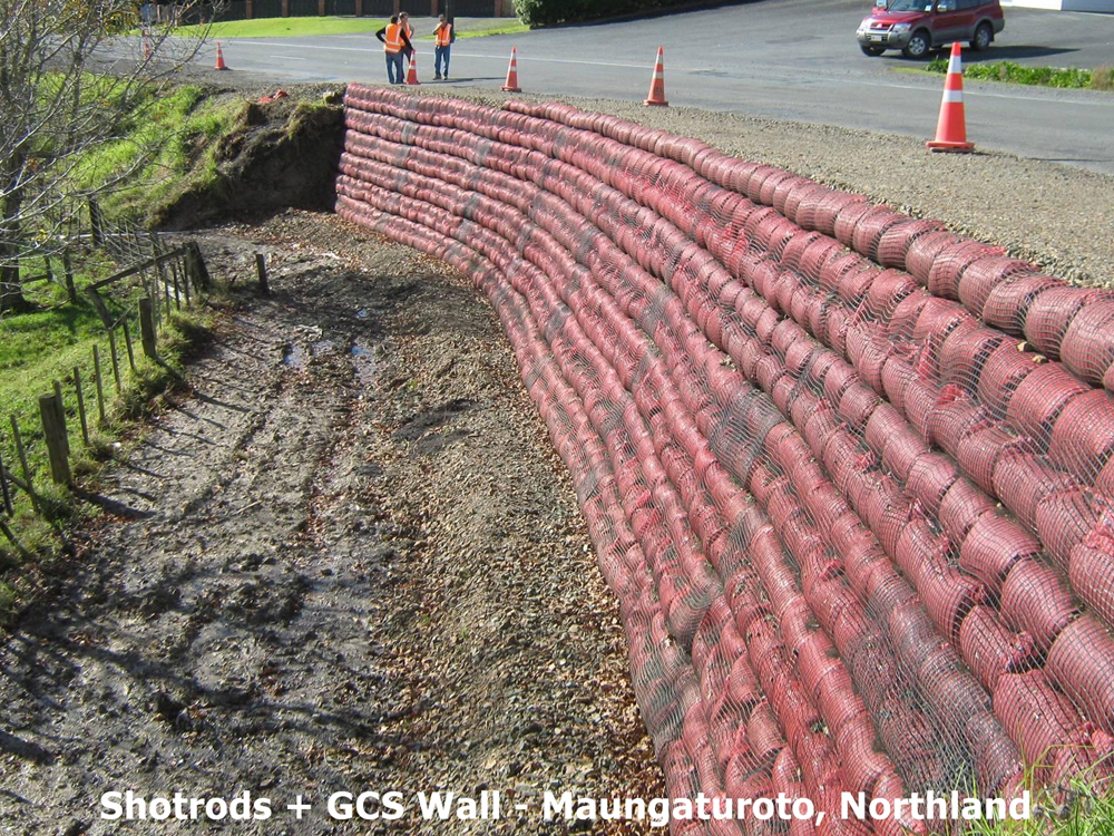 Geosynthetically Confined Soil® (GCS®)