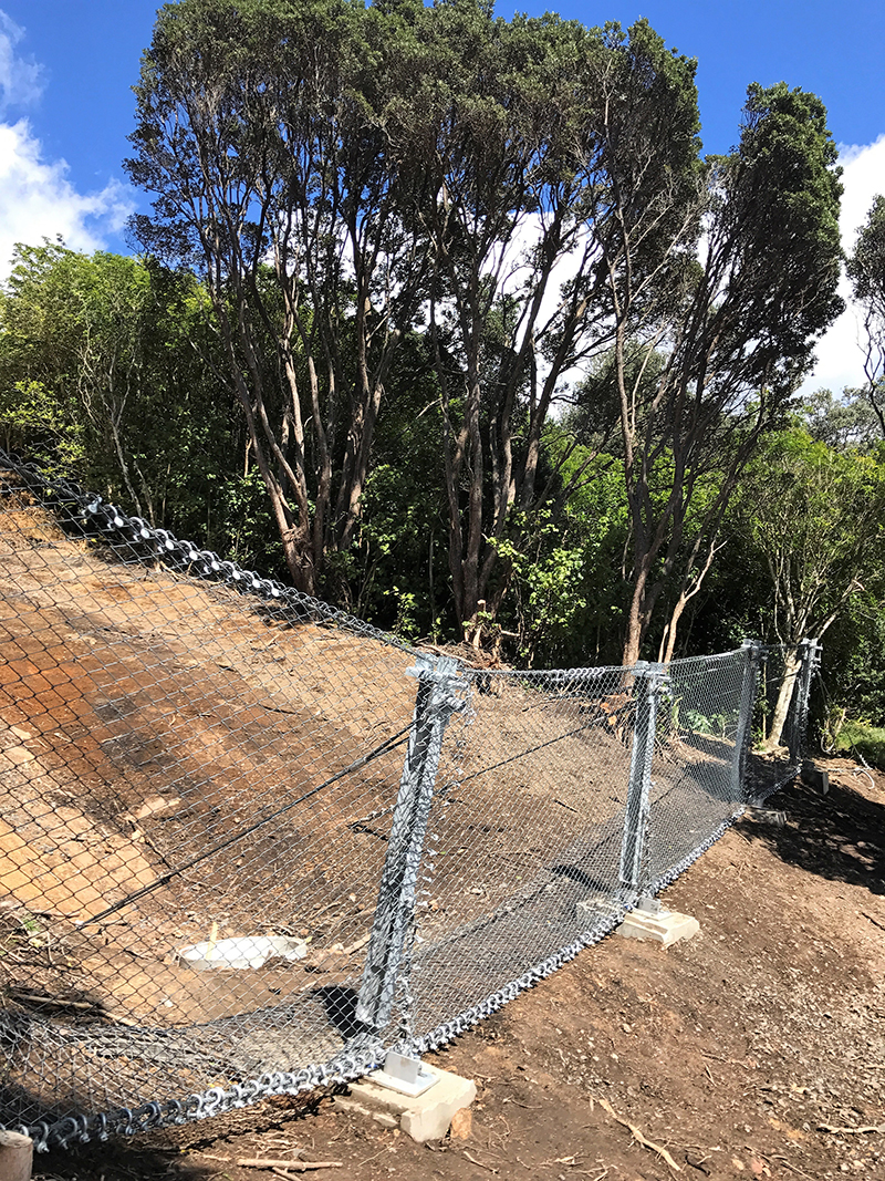 Onemana Shallow Landslide Barrier